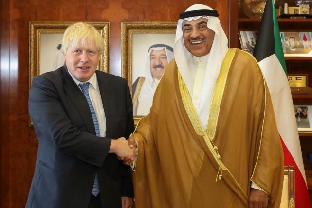 BorisJohnson a rencontré son homologue koweïtien cheikh Sabah... (Photo AFP)