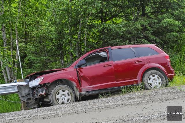 L'accident s'est produit ce matin, à Saint-Félicien.... (Photo Le Quotidien, Gimmy Desbiens)