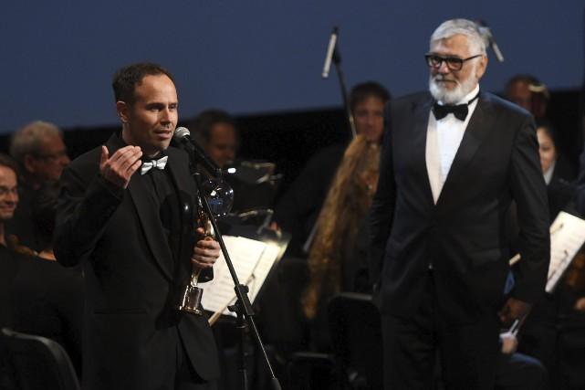 Le réalisateur tchèque Vaclav Kadrnka (à gauche) a... (AFP, Michal Cizek)