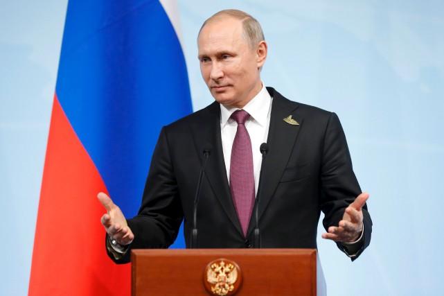 En conférence de presse samedi, le président russe... (AFP, Alexander Zemlianichenko)