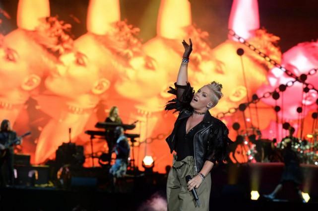 Rapidement, au début du spectacle, la chanteuse de... (Photo Erick Labbé, Le Soleil)
