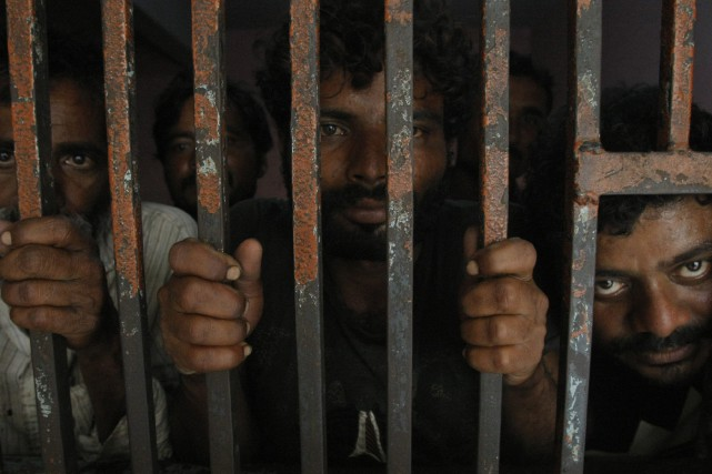 298 pêcheurs indiens sont encore emprisonnés et seront... (Photo Fareed Khan, AP)