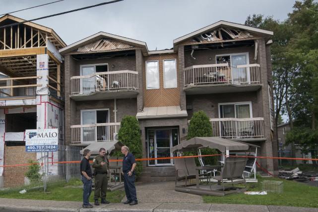 Quarante-trois personnes âgées ont dû être rapidement évacuées... (La Presse canadienne, Peter McCabe)