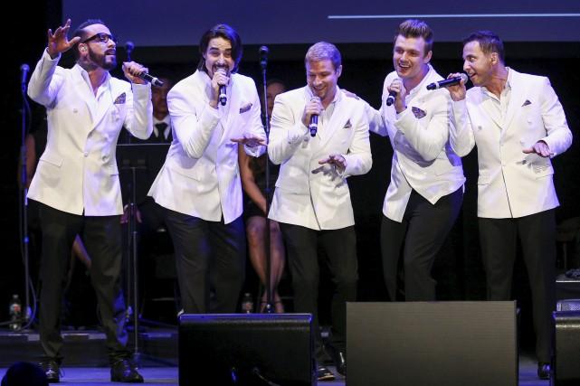 Les Backstreet Boys sur les Plaines, c'est ce... (Archives AP, John Salangsang)