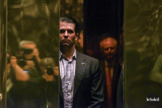 Donald Trump Jr. photographié dans le lobby de... (Photothèque Le Soleil)