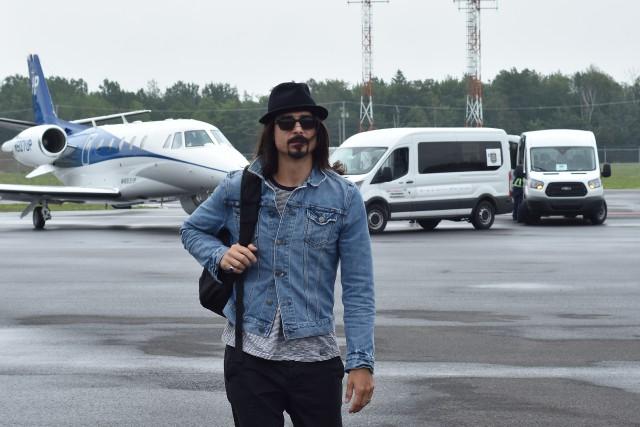 Kevin Richardson est arrivé à Québec vers 15h,... (Patrick Lemieux)