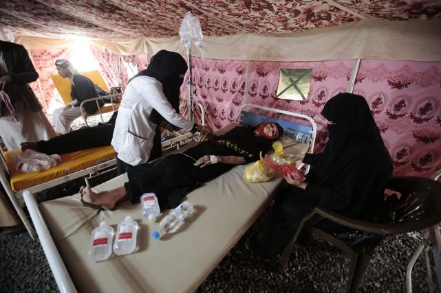 L'effondrement des infrastructures médicales et sanitaires au Yémen,... (AP)