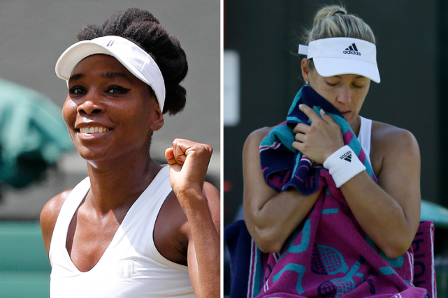 Venus Williams poursuit sa route; Angelique Kerber perd... (Photos Reuters et AP)