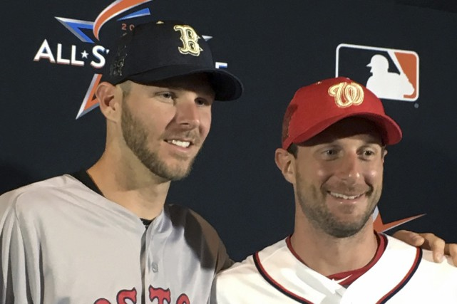 Chris Sale, des Red Sox de Boston, et... (Photo Ron Blum, AP)