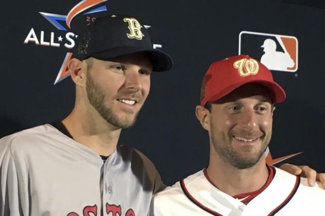 Chris Sale, des Red Sox de Boston, et... (Photo Ron Blum, AP)