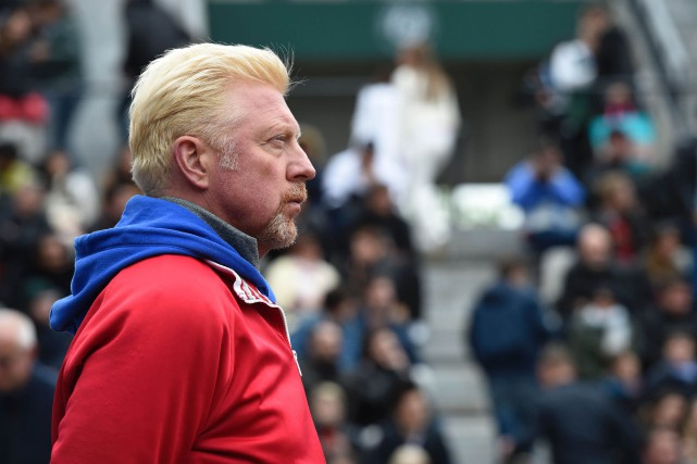 Boris Becker à Roland Garros en 2016.... (ARCHIVES AFP)