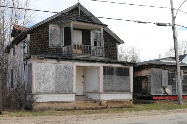Ce bâtiment à Parent a été ciblé parmi... (Audrey Tremblay)