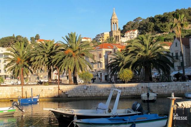 Le port de l'île de Hvar, en Croatie... (La Presse)