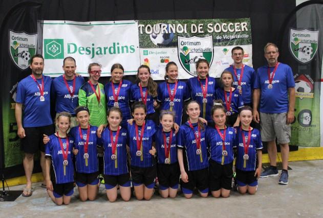L'Alliance du sud de Nicolet, une équipe inscrite dans la catégorie U12 A... (Courtoisie)