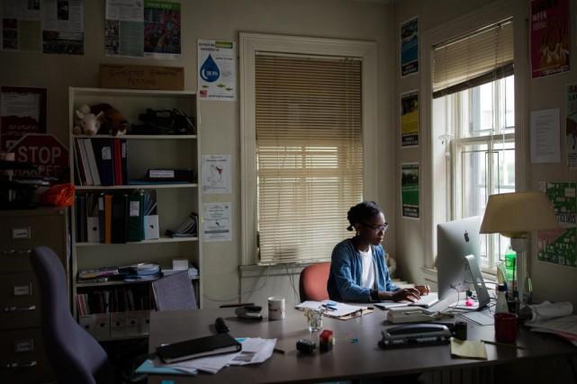 Tuviere Onookome-Okome, vice-présidente du syndicat des étudiants employés... (Photo Edouard Plante-Fréchette, La Presse)