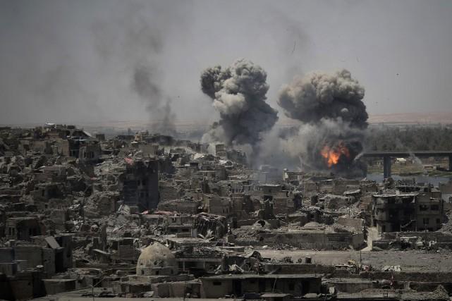 Après une offensive d'envergure soutenue par la coalition... (AP)