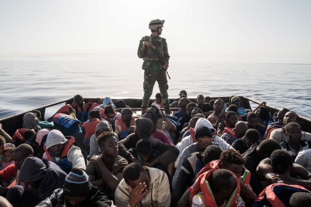 L'objectif du groupe d'extrême droite est que les... (photo Taha JAWASHI, AFP)