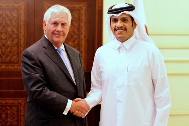 Le secrétaire d'État américain Rex Tillerson a rencontré... (PHOTO REUTERS)