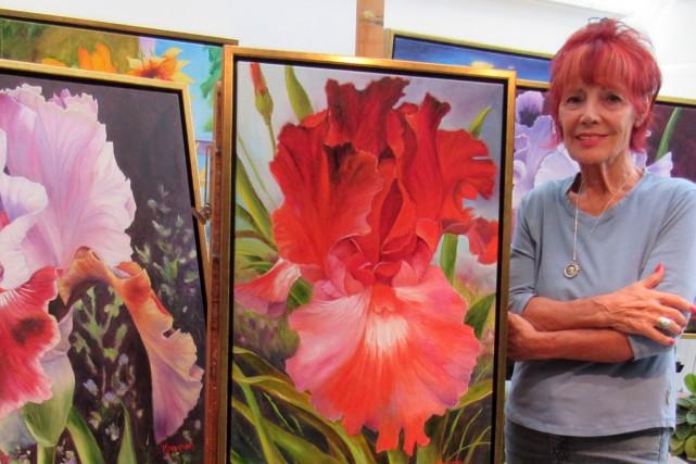 L'artiste peintre Michèle Kramer... (fournie)