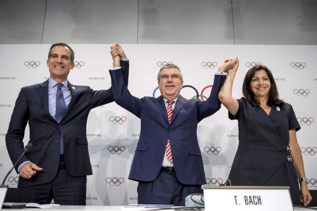 Le maire de Los Angeles, Eric Garcetti, le... (AFP)