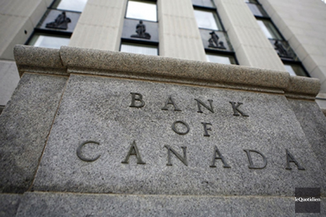 Le taux directeur de la Banque du Canada... (Archives, Le Quotidien)