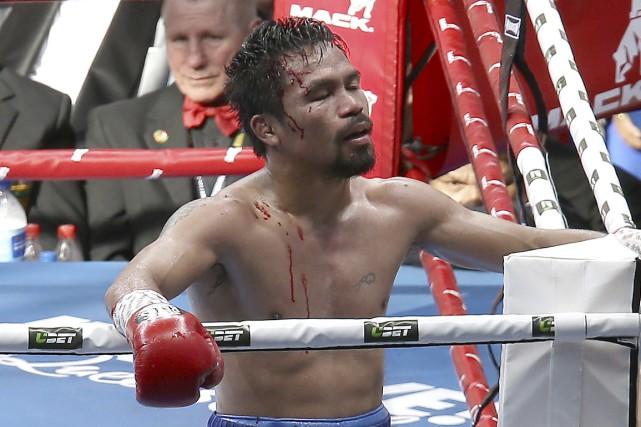 Manny Pacquiao s'est incliné face àJeff Horn, le... (Photo Tertius Pickard, AP)
