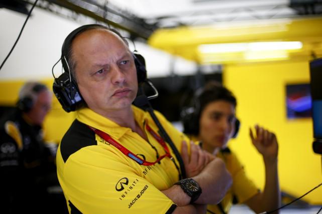 Frédéric Vasseur a brièvement dirigé l'écurie Renault lors... (Photo : Renault via AFP)