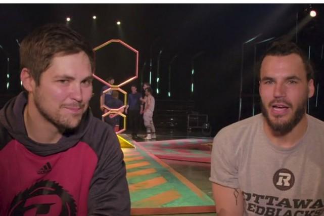 Antoine Pruneau (à gauche) et Jean-Philippe Bolduc (à... (Capture d'écran, Vidéo Cirque du Soleil)