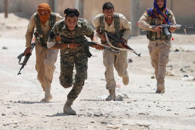 L'armée américaine reste discrète sur sa présence exacte... (PHOTO REUTERS)