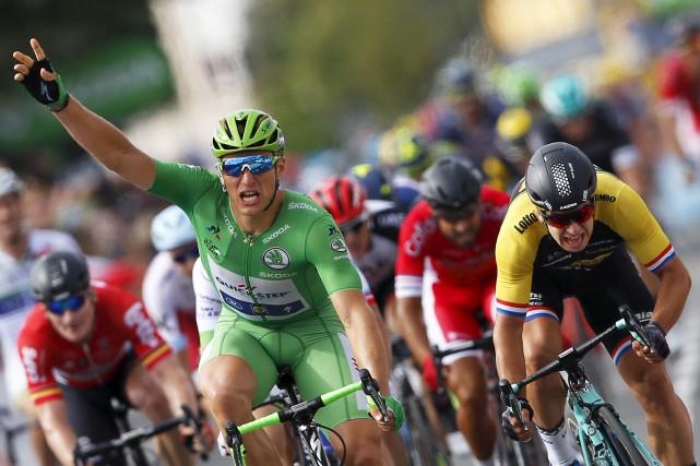 Marcel Kittel a remporté la 11eétape du Tour... (AP)