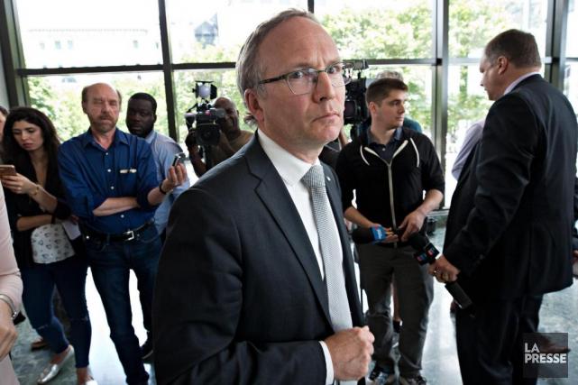 Le ministre de la Sécurité publique, Martin Coiteux,... (PHOTO PATRICK SANFAÇON, LA PRESSE)