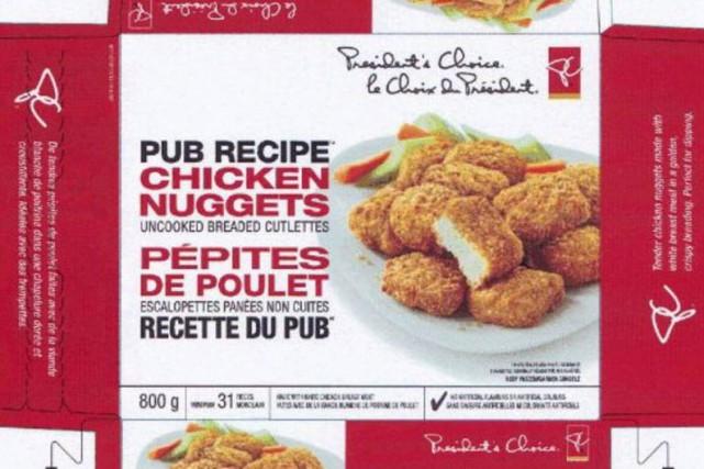 Le géant de l'alimentation Loblaw procède au rappel de pépites de poulet de... (Photo fournie par l'Agence canadienne d'inspection des aliments)