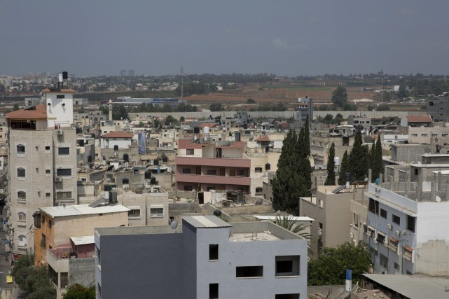 Qalqilyaest une des principales villes de Cisjordanie avec... (AP)