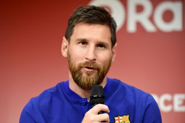 Lionel Messi... (Photo Toru Yamanaka, AFP)
