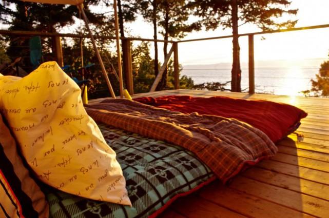 Le premier séjour de camping de luxe qu'Isabelle... (Photo fournie par Blogue à la fois)