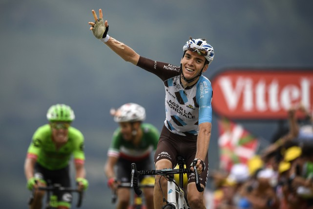 Le Français Romain Bardet a remporté la 12e... (Photo Lionel Bonaventure, AFP)