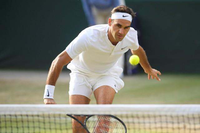Roger Federer, qui n'a pas perdu un set... (Photo Toby Melville, Reuters)