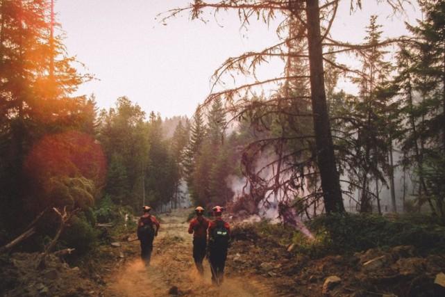 Une équipe de pompiers forestiers à l'oeuvre en... (Sécurité publique Canada)