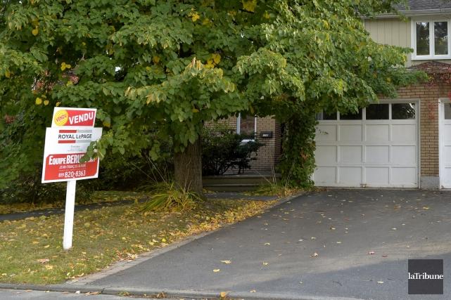 Le marché de l'immobilier à Sherbrooke est en pleine ébullition, alors qu'on... (Archives La Tribune, Maxime Picard)