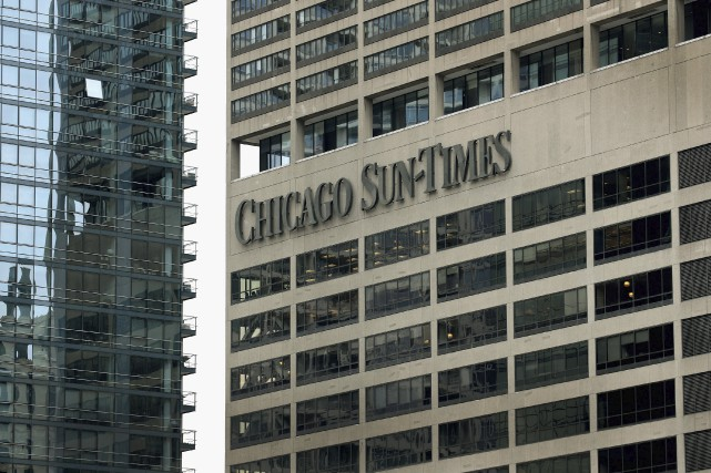 Le Chicago Sun-Times, fondé en 1944, a été... (AFP)