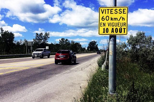 La vitesse passera à 60 km/h sur le... (Etienne Ranger, Le Droit)