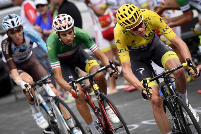 Le Français Romain Bardet a gagné la première... (Agence France-Presse)