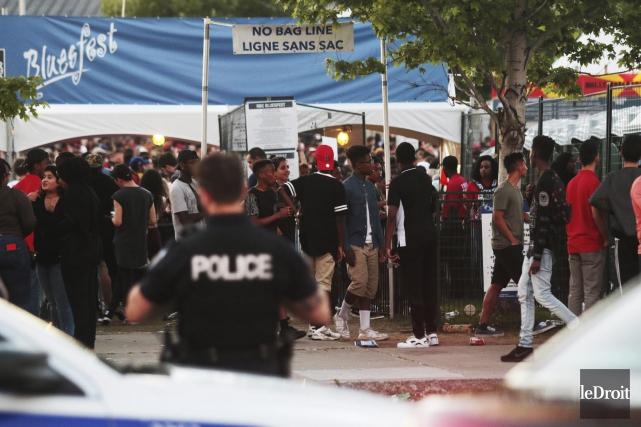 La sécurité du Bluesfest et la police d'Ottawa... (Etienne Ranger, Le Droit)