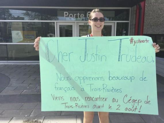 Les étudiants de l'École de français du Cégep de Trois-Rivières ont lancé une...