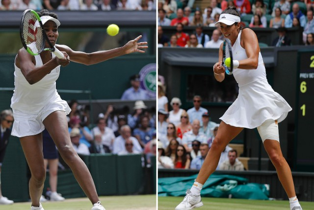 Venus Williams, 37 ans, et Garbine Muguruza, 23... (Photos AFP)