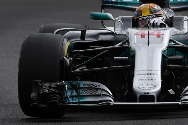Le Britannique Lewis Hamilton a inscrit le 2e... (Photo : AFP)