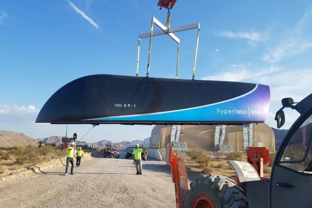 La jeune entreprise américaine Hyperloop One a profité... (Photo courtoisie, theverge.com)