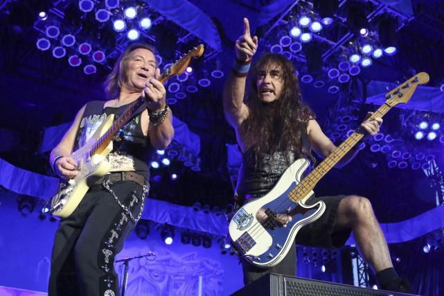Dave Murray et Steve Harris de Iron Maiden... (Archives La Presse Canadienne)