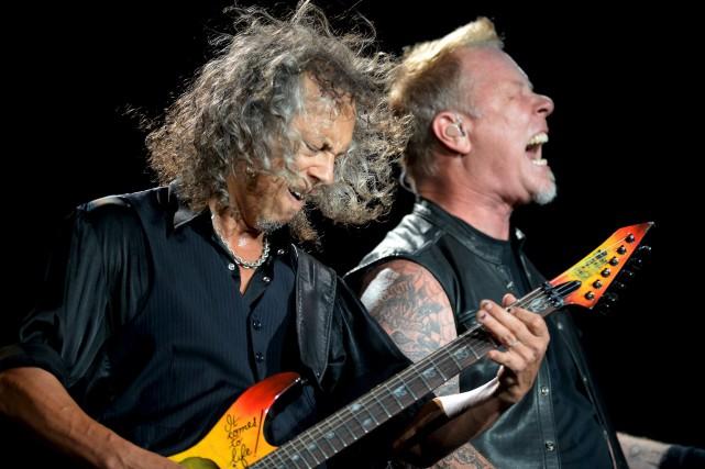 Kirk Hammett, James Hetfield et les autres membres... (Le Soleil, Erick Labbé)