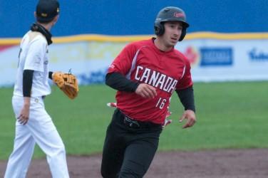 Mathieu Roy et l'équipe canadienne de softball sont... (Fournie par le Championnat du monde de softball masculin 2017, Maddy Flanagan)